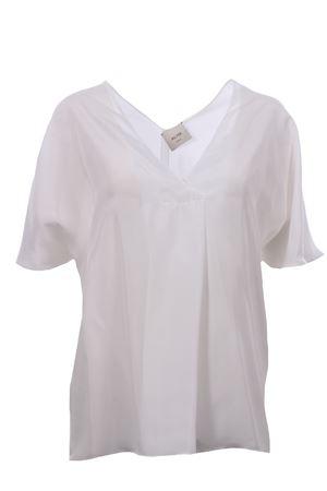 Silk tunic ALYSI | 5032279 | 100218P0039LATTE