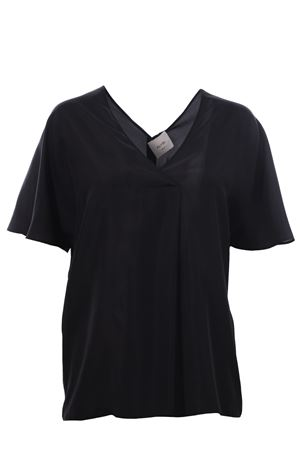 Silk tunic ALYSI | 5032279 | 100218P0039NERO