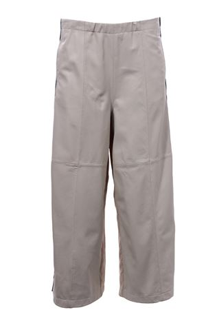 Pantalone real leather doppiato con elasitco in vita ALYSI | 5032272 | 200103P0046STONE