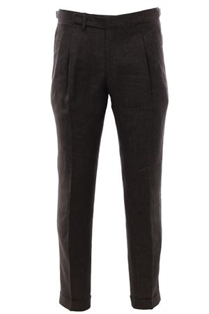 Tailored pants in active linen