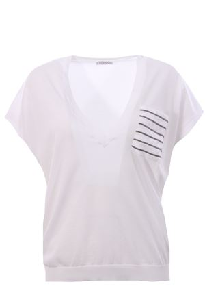 Cotton v-neck with pocket BRUNELLO CUCINELLI | -161048383 | M8I866012C2723