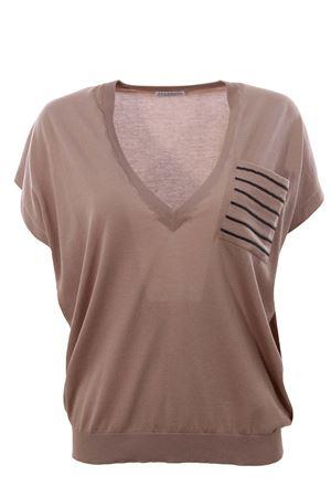 Cotton v-neck with pocket BRUNELLO CUCINELLI | -161048383 | M8I866012C9320