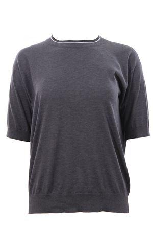 T-shirt in cotone con applicazione monili BRUNELLO CUCINELLI | 8 | M8Z840600C079