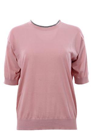 T-shirt in cotone con applicazione monili BRUNELLO CUCINELLI | 8 | M8Z840600C7911