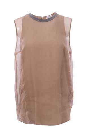 Silk dubbed top  BRUNELLO CUCINELLI | 8 | MF940DL510C7906