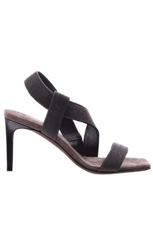 Leather sandals with jewels BRUNELLO CUCINELLI | 5032296 | MZBSC1712C2126