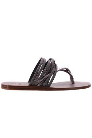 Leather flip-flops BRUNELLO CUCINELLI | 613511317 | MZR0C1770C005