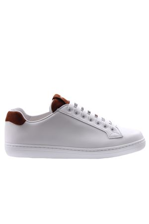 Sneakers boland plume+suede white/tabac