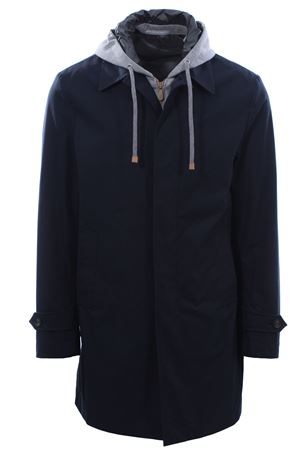 Trench coat with jersey bib ELEVENTY | 5032275 | A75SPOA02TES0A16611
