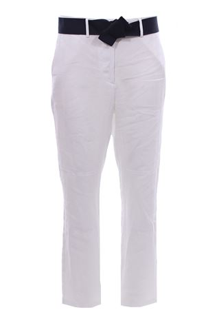 Pantaloni in lino con cintura ELEVENTY | 5032272 | A80PANA15TES0A01701