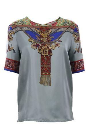 T-shirt mimosa girocollo in seta stampata ETRO | 8 | 136034503200