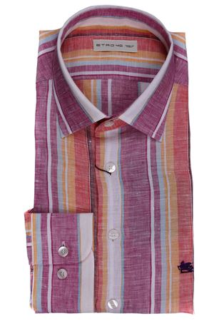 Camicia spread in lino a righe ETRO | 5032279 | 1K5266209650
