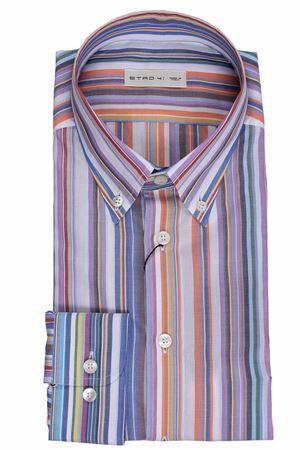 Camicia slim in cotone a righe ETRO | 5032279 | 1K96461388000