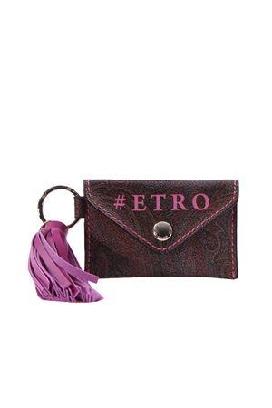 Key chain with leather pouch