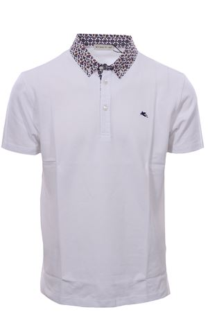 Polo collo camicia in piquet di cotone melange ETRO | 2 | 1Y1438271990