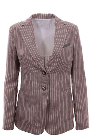 Striped linen jacket