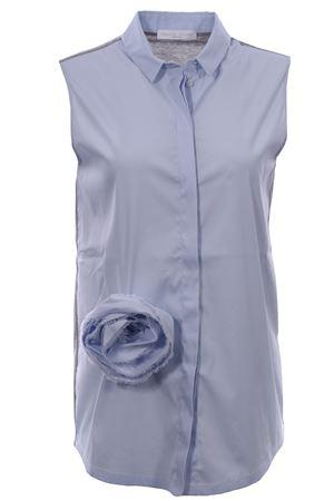 Camicia smanicata in cotone con spilla fiore FABIANA FILIPPI | 5032279 | JED270W428A706VR2