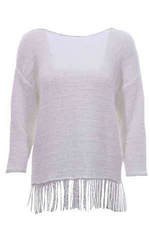 Cotton crew neck with fringes