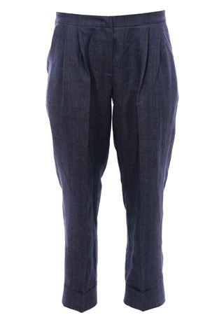 Pantaloni con pences in lino FABIANA FILIPPI | 5032272 | PAD270W789A930VR2