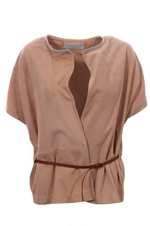 Sleeveless suede jacket FABIANA FILIPPI | 5032284 | PLD270W580S7964019