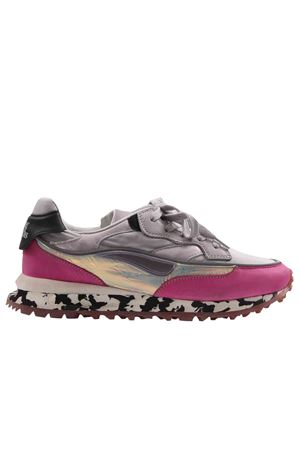 Sneakers threedome magenta/black marble