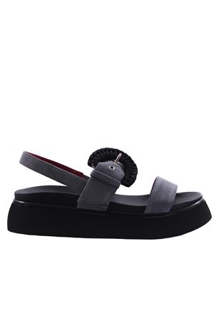Sandali in camoscio con fibbia e cinturino  I8I | 5032296 | PIME286VLGRIGIO