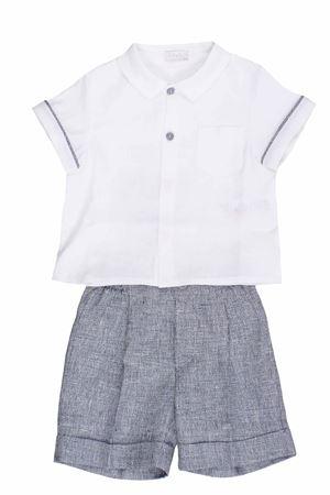 camicia e bermuda in lino IL GUFO | 5032309 | DP324L0011484