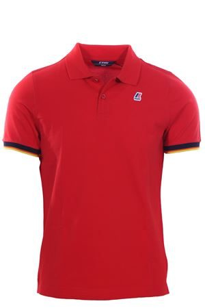Polo vincent contrast in cotone stretch K-WAY | 2 | K008J50UK08