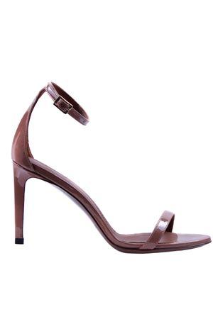 Sandali in pelle lucida con cinturino L