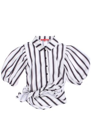 Striped shirt with bow