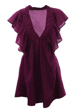 Mini abito in cotone con rouches MESDEMOISELLES | 5032276 | 20SCALIXTEPURPLE