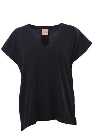 T-shirt in cotone collo a v NUDE | 8 | 110379809