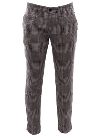 Checked linen pants