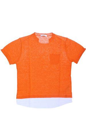 T-shirt girocollo in lino e cotone PAOLO PECORA | 8 | PP2100ARANCIO