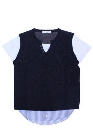 T-shirt girocollo in cotone PAOLO PECORA | 8 | PP2107BLU
