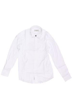 Camicia in cotone stretch PAOLO PECORA | 5032279 | PP2126BIANCO/BLU