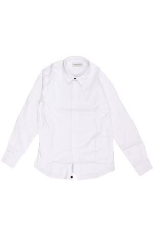 Camicia smoking in cotone  PAOLO PECORA | 5032279 | PP2143BIANCO/BLU