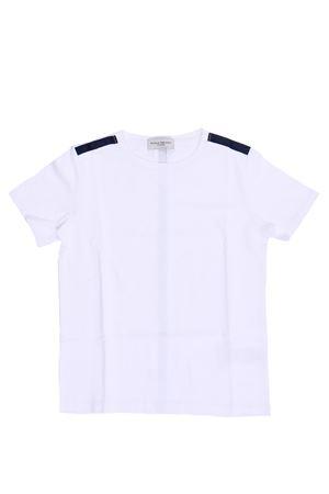 T-shirt girocollo in cotone stretch PAOLO PECORA | 8 | PP2208BIANCO/BLU