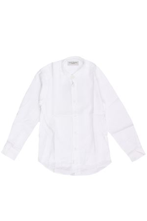 Camicia collo coreana  in lino e cotone PAOLO PECORA | 5032279 | PP2338BIANCO