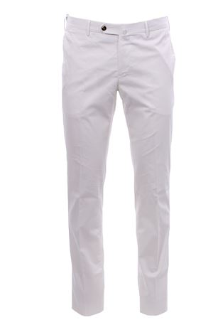 Pantalone in cotone e seta stretch PT | 5032272 | DL01Z00CL3BB140010
