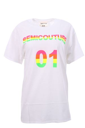 Cotton t-shirt with print SEMICOUTURE | 8 | S0SS0SJ20010