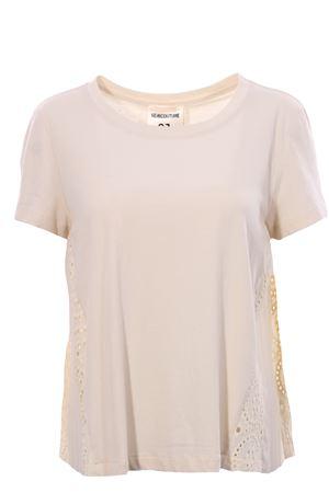 T-shirt in cotone con plisse e ricamo SEMICOUTURE | 8 | S0YY0SW52A360