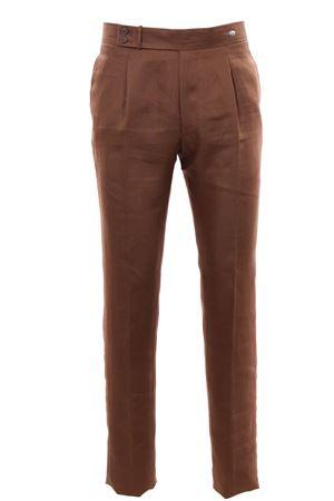 Pantalone in lino natural stretch TAGLIATORE | 5032272 | P-BRANDON34UEZ239K1402