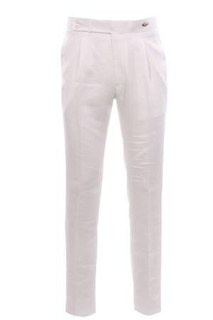Pantalone in lino natural stretch TAGLIATORE | 5032272 | P-BRANDON34UEZ239X1397