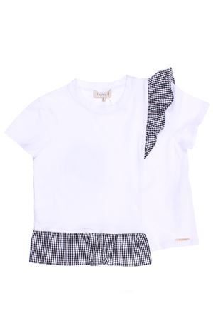 T-shirt con ruches in vichy TWIN SET | 8 | 201GJ209604924
