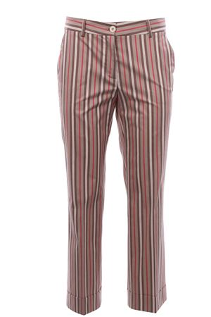 Striped pants with cuff