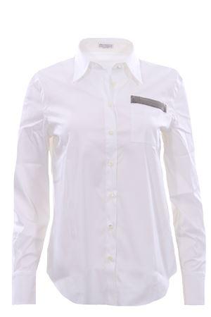 Cotton shirt with necklace BRUNELLO CUCINELLI | 5032279 | M0091M0316C159