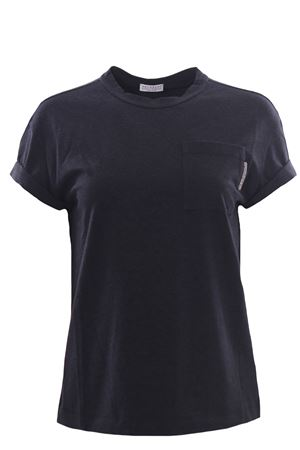 Cotton t-shirt wit pocket BRUNELLO CUCINELLI | 8 | M0T18BB300CU896