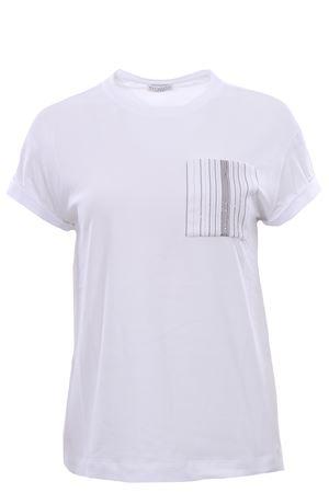 Cotton t-shirt with pocket BRUNELLO CUCINELLI | 8 | M0T18BF800C159