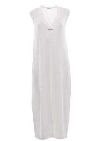 Linen and silk long dress BRUNELLO CUCINELLI | 5032276 | M10551A72CJ159